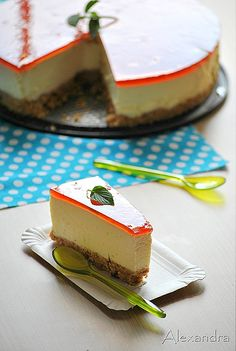 Unique No-Bake Cheesecake Cheesecake Tarts, Cheesecake Recipes, Dessert Recipes, Greek Desserts, Creative Desserts, Tasty, Yummy Food, Sweet Pastries, Pie Cake