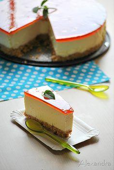 Es cheesecake, eso sin dudas, pero si alguien puede traducirme la receta, le voy a estar agradecida eternamente.