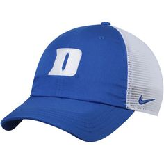 Men s Nike Royal White Duke Blue Devils Trucker Adjustable Performance Hat c23e4956d9b2