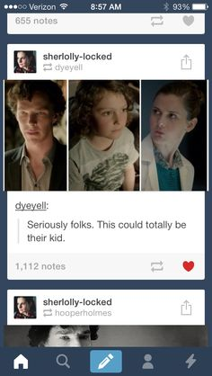 Sherlolly Jr! (Internal debate.... Johnlock... or post accuracy... I guess post accuracy wins this round.)