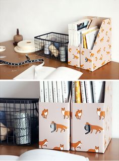 Bookstands foxes / Range-documents renards - Bird on the wire  www.botw.fr