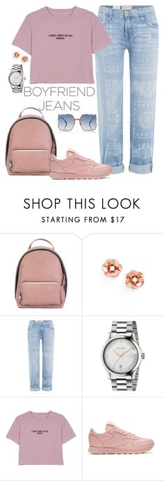 """You're a Flame"" by chelsofly on Polyvore featuring STELLA McCARTNEY, Kate Spade, Current/Elliott, Gucci, WithChic, Reebok, Fendi, contest, boyfriendjeans and contestentry"