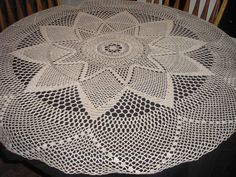 Super Star Tablecloth / Doily / Centerpiece / Gift by evyslace, $45.00. I want.