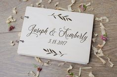 Guest Book Wedding Guest Book Personalized Rustic от woodlack