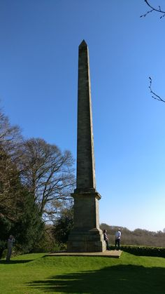 Obelisk at the end of the Terrace Walk at Farnborough Hall, Warwickshire