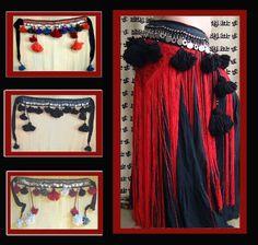 Flying Skirts Tribal Belly Dance Costumes: Raj Coin Tassel Belt