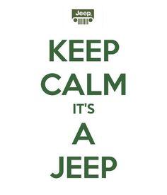 keep calm it's a jeep