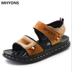 2018 Summer Beach Boy Sandals Kids Genuine Leather Shoes Fashion Sport  Sandal Children Sandals For Boys 1a6dd3813510