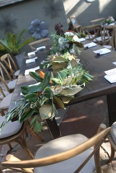 bit.ly/1mseoAj #farmtable #weddings #wedding #centerpiece #reception #weddingidea #weddingideas #rusticwedding #rustic Rustic Wedding, Wedding Reception, Rustic Backyard, Centerpieces, Table Decorations, Social Events, Garlands, Weddingideas, Table Settings