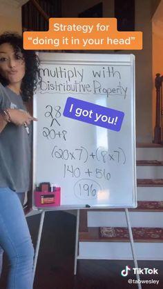 High School Life, Life Hacks For School, School Study Tips, School Tips, Mental Math Tricks, Cool Math Tricks, Math Strategies, Math Resources, Math Activities
