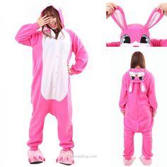 09ad589f1c Kid Animal Pajama Kigurumi · Adult Bunny Rabbit Kigurumi Onesie Warm Hoodie  Costume Pajamas Like!Free get Gifts ! Buy