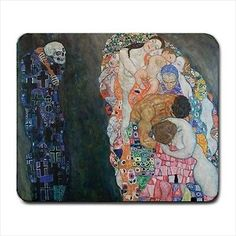 Death and Life Gustav Klimt Art Computer Mouse Pad