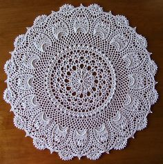 """from the book """"Pineapple Elegance"""" by Patricia Kristoffersen - a set on Flickr - photos and completed doilies by Elaine Pawelko"""