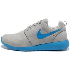 buy popular 993a8 9e60d 2013 Mens Nike Roshe One Low Anti Fur Waterproof Running Shoes Light Gray  Bright Blue,