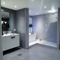 Trendy home interior illustration design 68 Ideas Bathroom Spa, Bathroom Layout, Modern Bathroom Design, Bathroom Interior Design, Decor Interior Design, Bathroom Grey, Dream Bathrooms, Trendy Home, Bathroom Inspiration