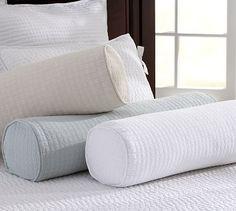 Cameron Organic Matelasse Bolster Pillow Cover #potterybarn