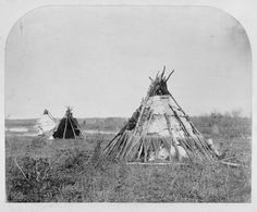 Ojibwe Birch Bark Wigwam. Michipicoten First Nation