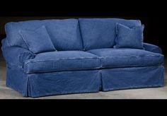 Slip Cover Denim Style Sofa