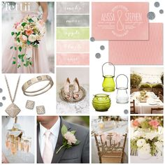 'Blush Me to the Altar' Wedding Inspiration Board by Fettii with colour palette rose pink, blush, apple green, moss gray & smoke gray. Read the full post for credits & resources xx