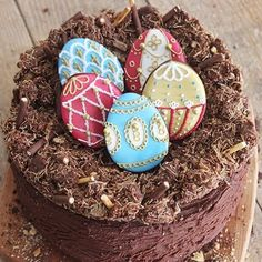 "Biscuiteers Baking Company on Instagram: ""Hands up who has an #Easter bake planned this weekend? 🙋🏻#TBT to our #showstopper Easter egg nest cake, recipe on the blog now!"""