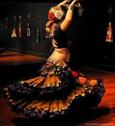 Cara Cressell of Damiana Dance Company dances American Tribal Style® belly dance