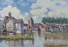 Moret sur Loing 1891 | Alfred Sisley | oil painting