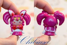 Chibi Sailor Warrior Chibiusa Inspired by anime Sailor Moon polymer clay kawaii charms by NGKawaiiCrafts