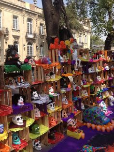 Dia de muertos use wooden produce baskets
