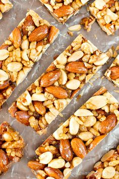 5 Ingredient Homemade KIND Nut Bars (V, GF, DF): an easy, one bowl recipe for irresistibly salty and sweet homemade KIND bars. #ProteinPacked #Vegan #GlutenFree #DairyFree #RefinedSugarFree   BeamingBaker.com