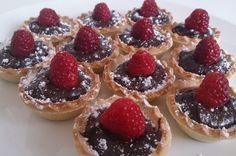 Tartaletas de chocolate y Ambrosías Tirma