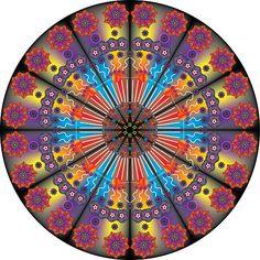 'Multi-coloured Flower Mandala ' by FinnDesigns Flower Mandala, Mandala Coloring, Flowers, Design, Products, Growing Up, Royal Icing Flowers, Flower