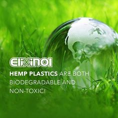 Hemp plastics are both biodegradable and non-toxic! #Hemp #CBD #CBDOIl #HempCBD #hempHealth #Cannabis #elixinol #Healthy #Vegan    #Regram via @elixinol