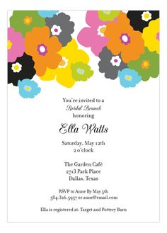 Floral Pop Invitation