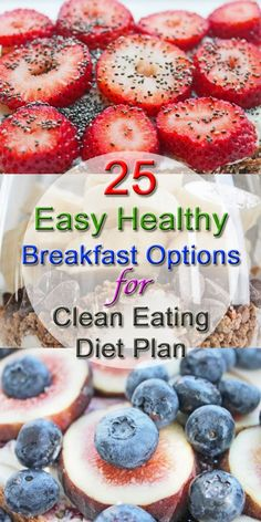25 Healthy Breakfast Options | Healthy Weight Loss Recipes | Easy Healthy Recipes | Clean Eating Diet #brunch #recipes #breakfast #brunch #recipe