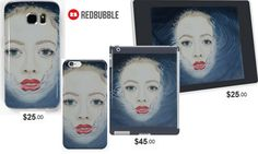 'Waiting in the Water' Portrait, Iphone, Samsung, Ipad and Laptop skins #artbyurte