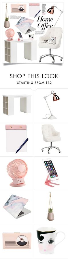 """Home Office"" by natalyapril1976 ❤ liked on Polyvore featuring interior, interiors, interior design, home, home decor, interior decorating, PBteen, StudioSarah, CYLO and Recover"