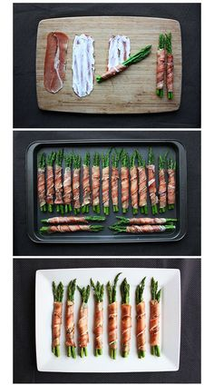 sparris7009 Asparagus Appetizer, Asparagus Wrapped In Prosciutto, Sauce For Asparagus, Asparagus Spears, Roast Beef Appetizers, Prociutto Appetizers, Bacon Wrapped Appetizers, Light Appetizers, Appetizer Dips