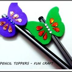 Foam Butterfly Pencil Toppers – Fun Craft for Kids