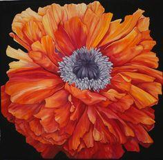 Synergy --- Silk painting by Karen Sistek --- Quilting by Nancy Sterett Martin