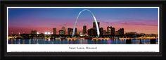 Saint Louis Skyline Panoramic Picture Framed, Missouri