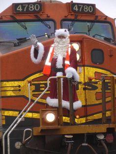 Santa at the Depot. A Temple tradition.