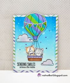 Hey everyone. After a small break I am back with another card. It features cute kittens riding in a hot air balloon. I first starte...