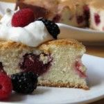 Berry Delicious Almond Cake - easy subs to make low sugar/low carb