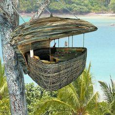 Amazing treetop restaurant at the Soneva Kiri resort in Thailand. Amazing treetop restaurant at the Soneva Kiri resort in Thailand. Oh The Places You'll Go, Places To Visit, Outdoor Living, Outdoor Decor, In The Tree, Big Tree, Interior Exterior, Interior Design, Beach Resorts