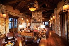 Summers Custom Multi-Width Hickory Flooring at the Pronghorn Club & Resort Clubhouse Clubhouse Design, Home Fireplace, Fireplace Ideas, Fireplaces, Hickory Flooring, Grand Lodge, Golf Shop, Gate House, Home On The Range