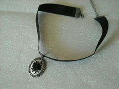 Black Rose Choker Necklace by OctoberPetals on Etsy, $15.25