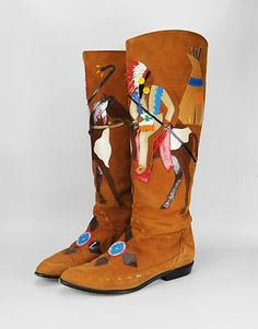 Vintage Native American Boots