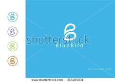 B logo vector element - stock vector Blue Bird, Stock Photos, Logos, Pictures, Image, Photos, Logo, Grimm