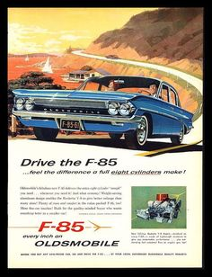 "ORIGINAL 1961 ""OLDSMOBILE F-85"" CLASSIC CAR ADVERTISING VINTAGE ART PRINT AD"