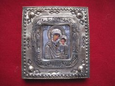 Antique Russian Orthodox Silver 84 Icon Virgin of Kazan | eBay